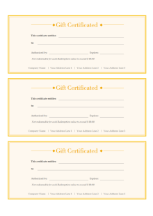 simple gift certificate free simple gift certificate templates