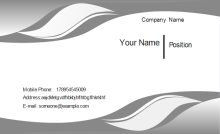 Gray Curve Business Card Front