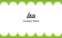 Green Edge Business Card Back