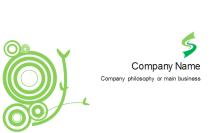 Green Vine Business Card Back