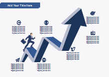 Growth Arrow Marketing Diagram