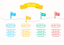 Horizontal Flags Timeline