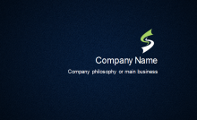 Jeans Texture Business Card Back