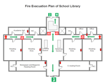 Fire and emergency layout floor plan solutions library fire evacuation plan sciox Images