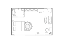 Main Bedroom Floor Plan