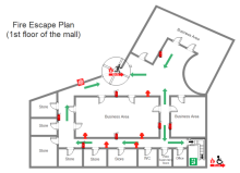Mall Fire Escape Plan