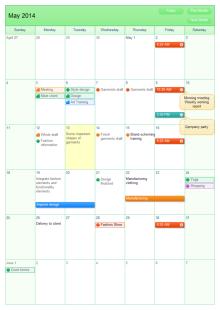 作業カレンダー