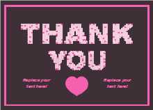 Pinky Thank You Card Template