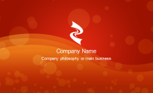 Red Passion Business Card Back