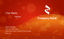 Red Passion Business Card Front