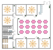 Restaurant seating plan