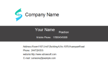 Simple Concept Business Card Front