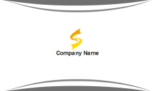 Simple Gray Business Card Back