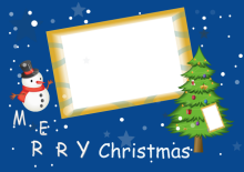 Christmas Card with Photo Frame