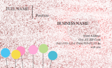 Sparkling Business Card Template