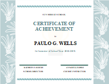 academic achievement certificate free academic achievement