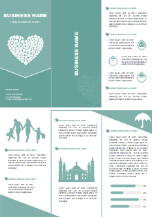 free church profile brochure templates