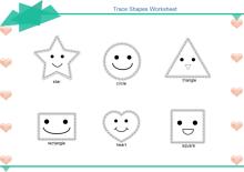 Trace Shapes Worksheet
