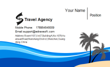 Travel Agency Business Card Front
