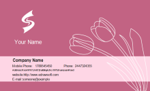 Tulip Business Card Front
