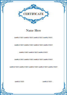 Vertical Award Certificate Template