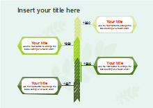 Vertical Green Timeline