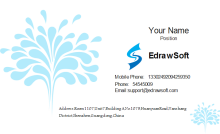 Water Blossom Business Card Front