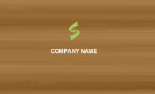Wood Texture Business Card Front