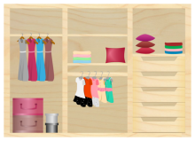 Wooden Wardrobe Plan