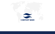 World Map Business Card Back