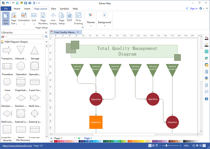 TQM Diagram Software Visio Alternative