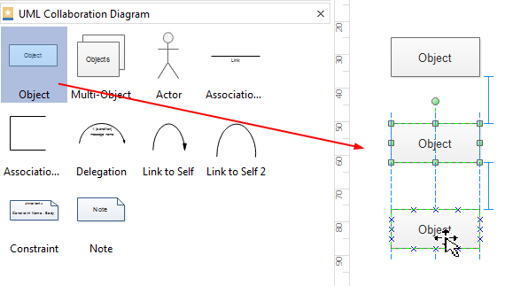 Add Shapes for UML Collaboration Diagram