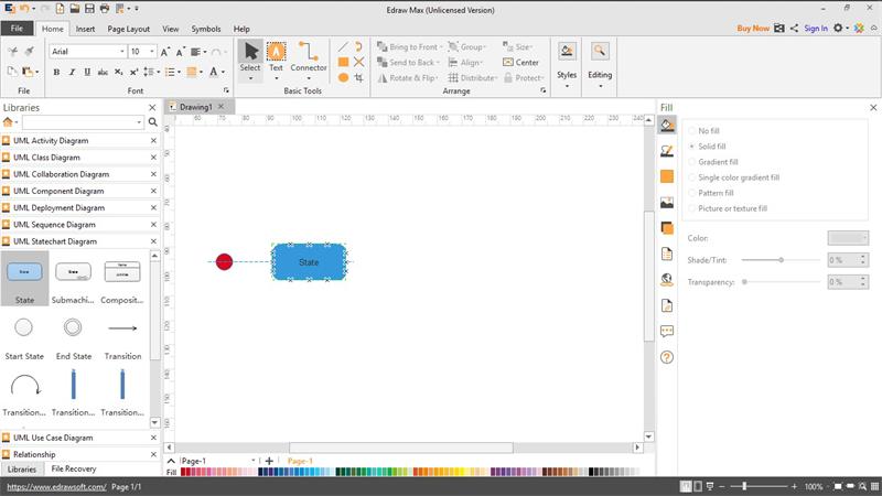 Create UML State Diagram
