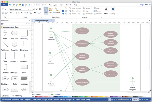 Use Case Diagram Visio Juvecenitdelacabrera
